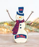 OLE MISS TABLETOP SNOWMAN