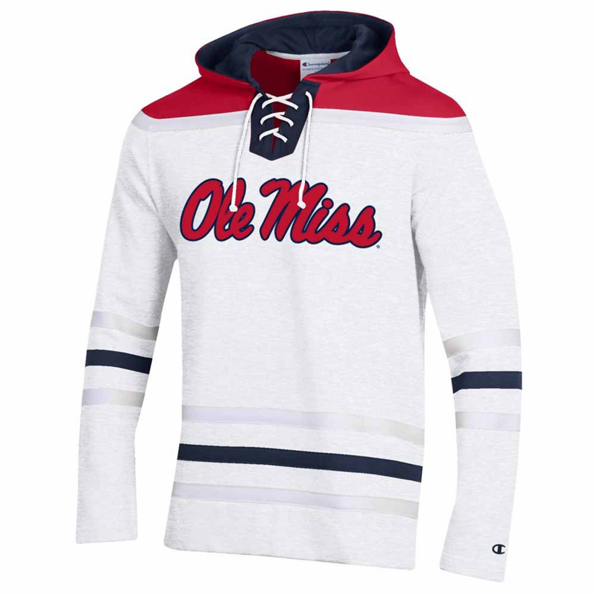 SUPER FAN MTO HOCKY HOOD WHITE
