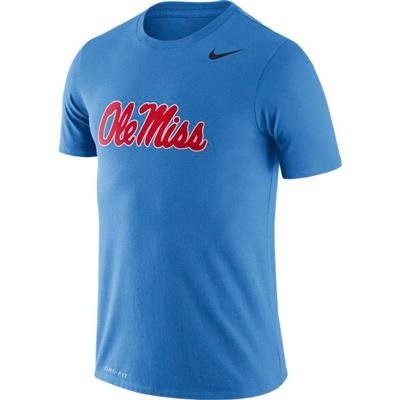 NIKE OLE MISS COLLEGE DRI-FIT LEGEND TEE ITALY_BLUE