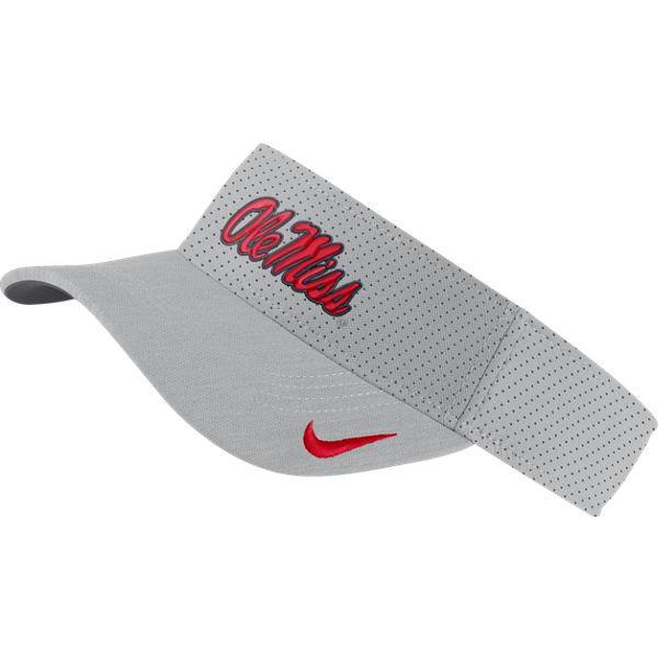 Nike Ole Miss College Aerobill Sideline Visor