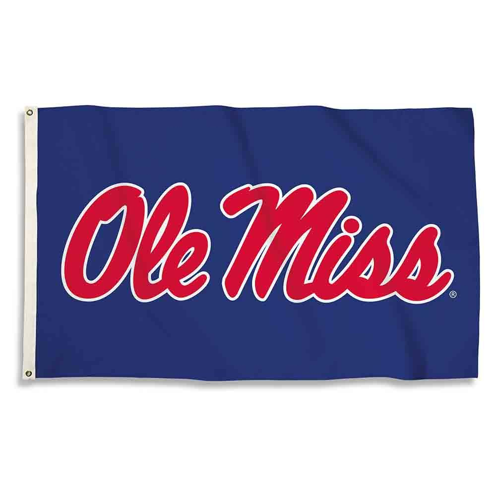 3x5 Om Blue Logo Only Flag