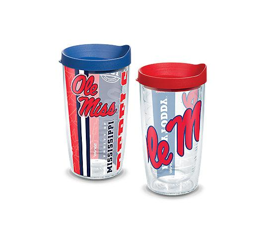 Ole Miss Rebels College Pride And Colossal Wrap With Travel Lid 2- Pack Gift