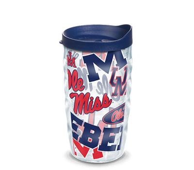 WAVY OLE MISS REBELS ALL OVER WRAP WITH TRAVEL LID
