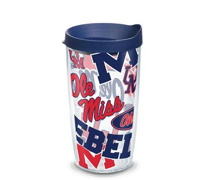 OLE MISS REBELS ALL OVER WRAP WITH TRAVEL LID