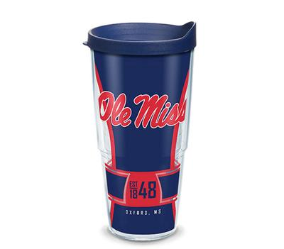 OLE MISS REBELS SPIRIT WRAP WITH TRAVEL LID NAVY