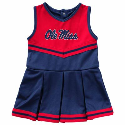 INFANT GIRLS PINKY CHEER DRESS NAVY