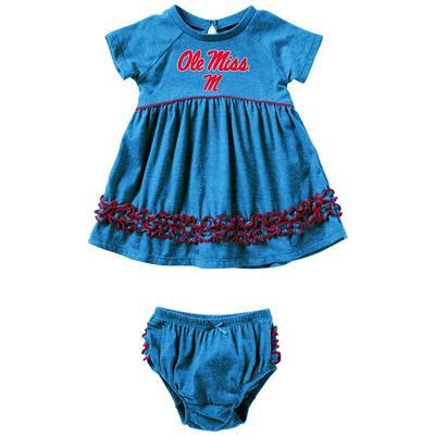 INFANT GIRLS PLUCKY DRESS SET BLUE