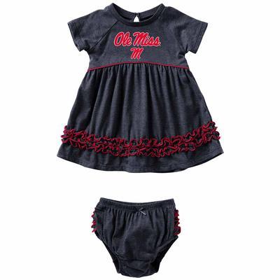 INFANT GIRLS PLUCKY DRESS SET NAVY