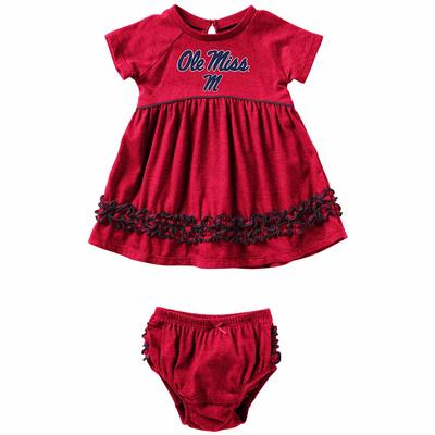INFANT GIRLS PLUCKY DRESS SET RED