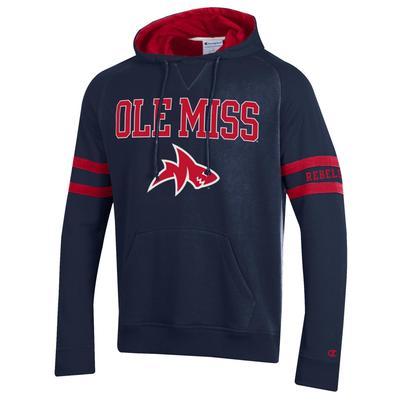 SUPER FAN MENS MTO PULLOVER HOOD NAVY