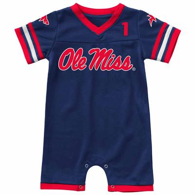INFANT BOYS BUMPO FOOTBALL ONESIE ROMPER