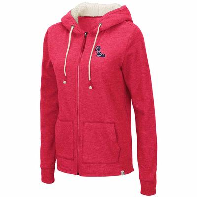 WOMENS CHARLOTTE FULL ZIP HOODIE RED