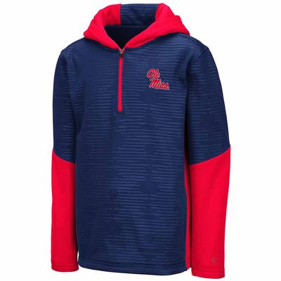YOUTH NEWT HOODED 1/4 ZIP
