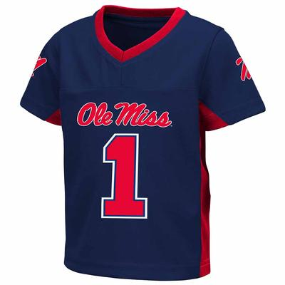 TODDLER BOYS MAX POWER FOOTBALL JERSEY NAVY