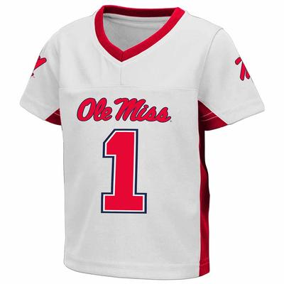 TODDLER BOYS MAX POWER FOOTBALL JERSEY WHITE