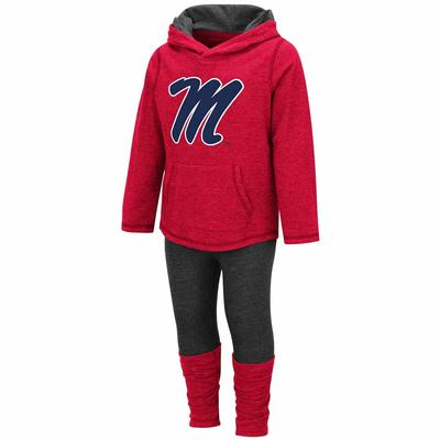 TODDLER GIRL MINERVA L/S TEE AND LEGGIN RED