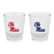 2PK OLE MISS TAPERED SHOT GLASS