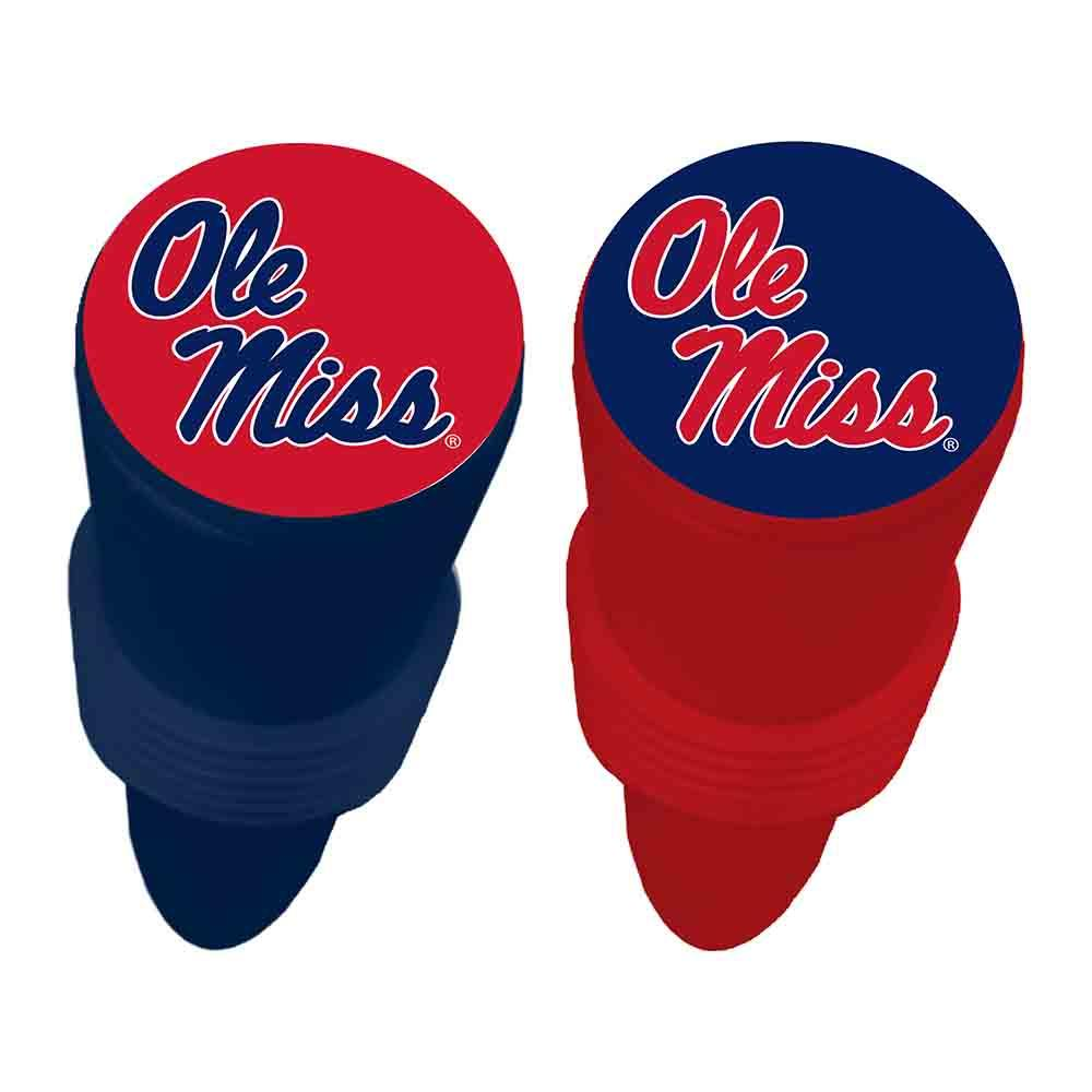 2pk Ole Miss Wine Bottle Stopper