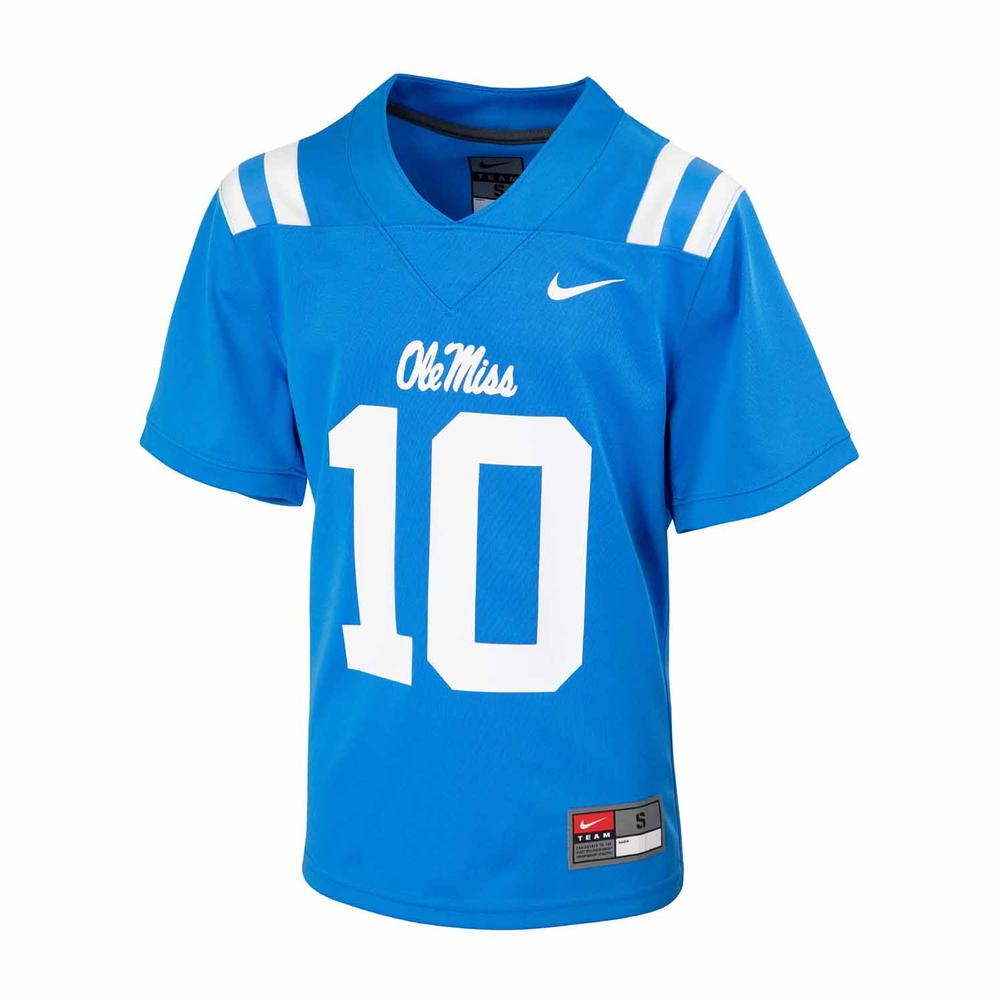 Youth No 10 Ole Miss Football Jersey