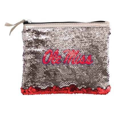 OLE MISS REVERSE SEQUIN BAG