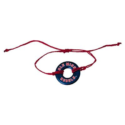 OLE MISS REBELS CORD NECKLACE NAVY