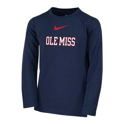 LS OLE MISS BOYS COACH TOP NAVY