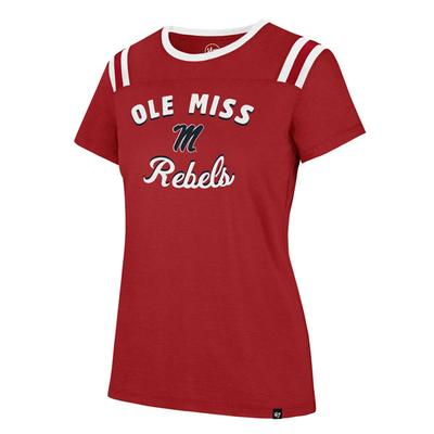 OLE MISS HUDDLE UP BLOWOUT TEE RED