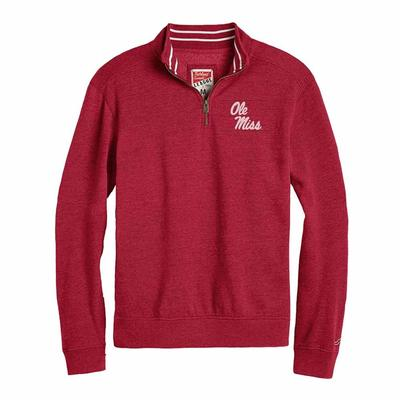 OLE MISS TRIBLEND QTR ZIP