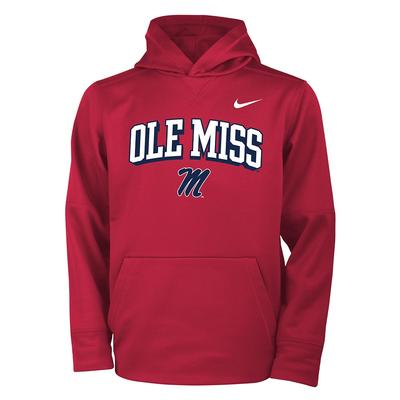 OLE MISS M BOYS THERMA PO HOODY RED