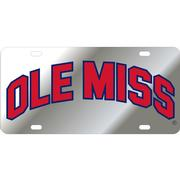 LASER SIL NAVY RED OM LICENSE PLATE