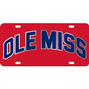 LASER RED SIL NAVY OM LICENSE PLATE