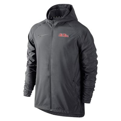 NIKE OLE MISS ESSENTIAL JACKET ANTHRACITE