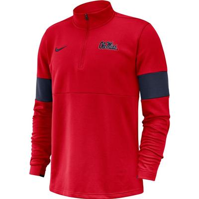 NIKE OLE MISS HALF ZIP TOP