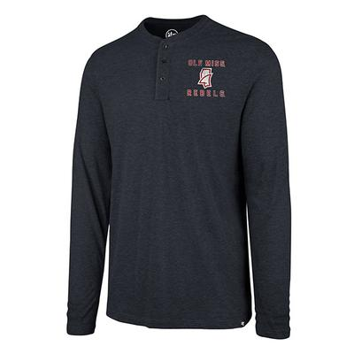 LS OLE MISS MATCH HENLEY NAVY