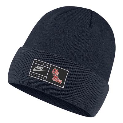 YOUTH OLE MISS CUFFED BEANIE