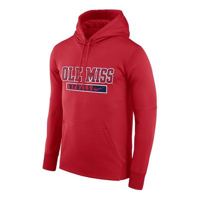 OMR NIKE THERMA PO HOODY UNIVERSITY_RED