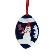 OM REBELS SINGLE SNOWMAN ORNAMENT
