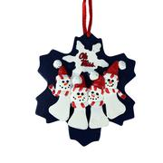 OMR FAMILY QUAD SNOWMAN ORNAMENT