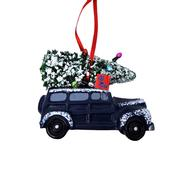 OMR RESIN VAN ORNAMENT LOGO FLAG