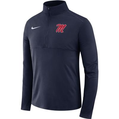 LS OLE MISS HALF ZIP TOP