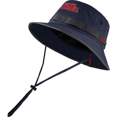 NIKE OLE MISS DRY BUCKET HAT NAVY