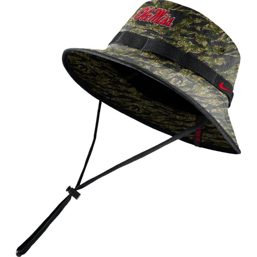 Ole Miss Camo Bucket Hat