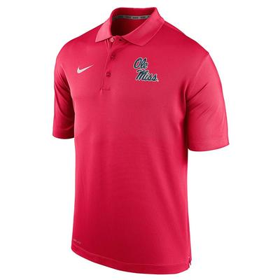 OLE MISS VARSITY PERFORMANCE POLO RED