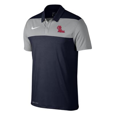 MENS NIKE OLE MISS COLOR BLOCK POLO