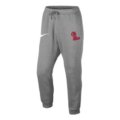NIKE OM CLUB FLEECE JOGGER DARK_GREY_HEATHER