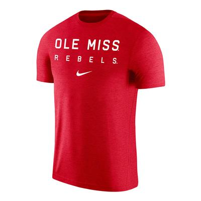 SS OLE MISS REBELS COACH TEE RED