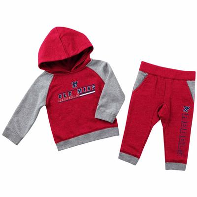 INFANT WHATNOTS FLEECE SET RED