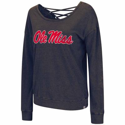OLE MISS HUZZAH 2 WAY TEE NAVY