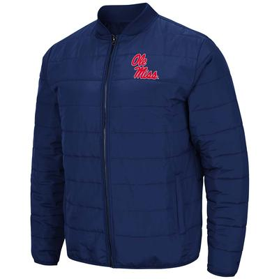 OLE MISS HOLT PACKABLE JACKET NAVY