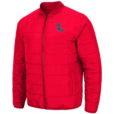 OLE MISS HOLT PACKABLE JACKET RED